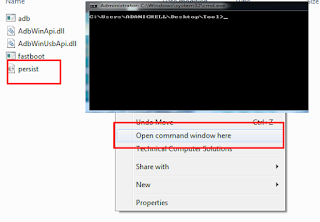 SHIFT+ Klik Kanan Muse, dan pilih menu Open Command Window Here