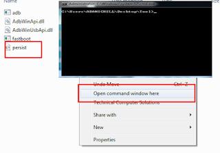 SHIFT+ Klik Kanan Muse, serta pilih menu Open Command Window Here