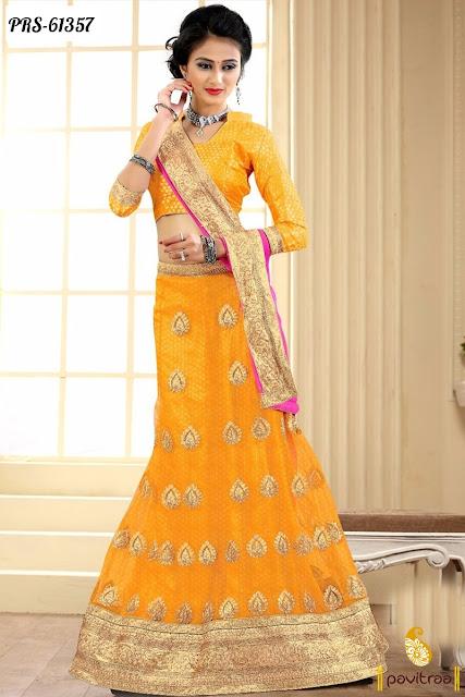 Latest fashion yellow chiffon lehenga choli online shopping at below price 2440 online shopping at pavitraa