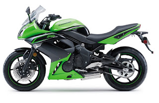 Kawasaki Ninja 400R green color side view 01