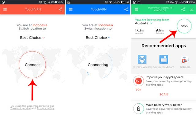 Membuka Situs Diblokir Dengan Touch VPN