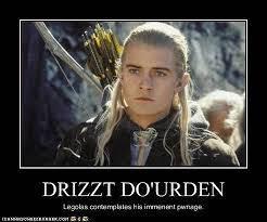 Meme de humor sobre Drizzt y Legolas
