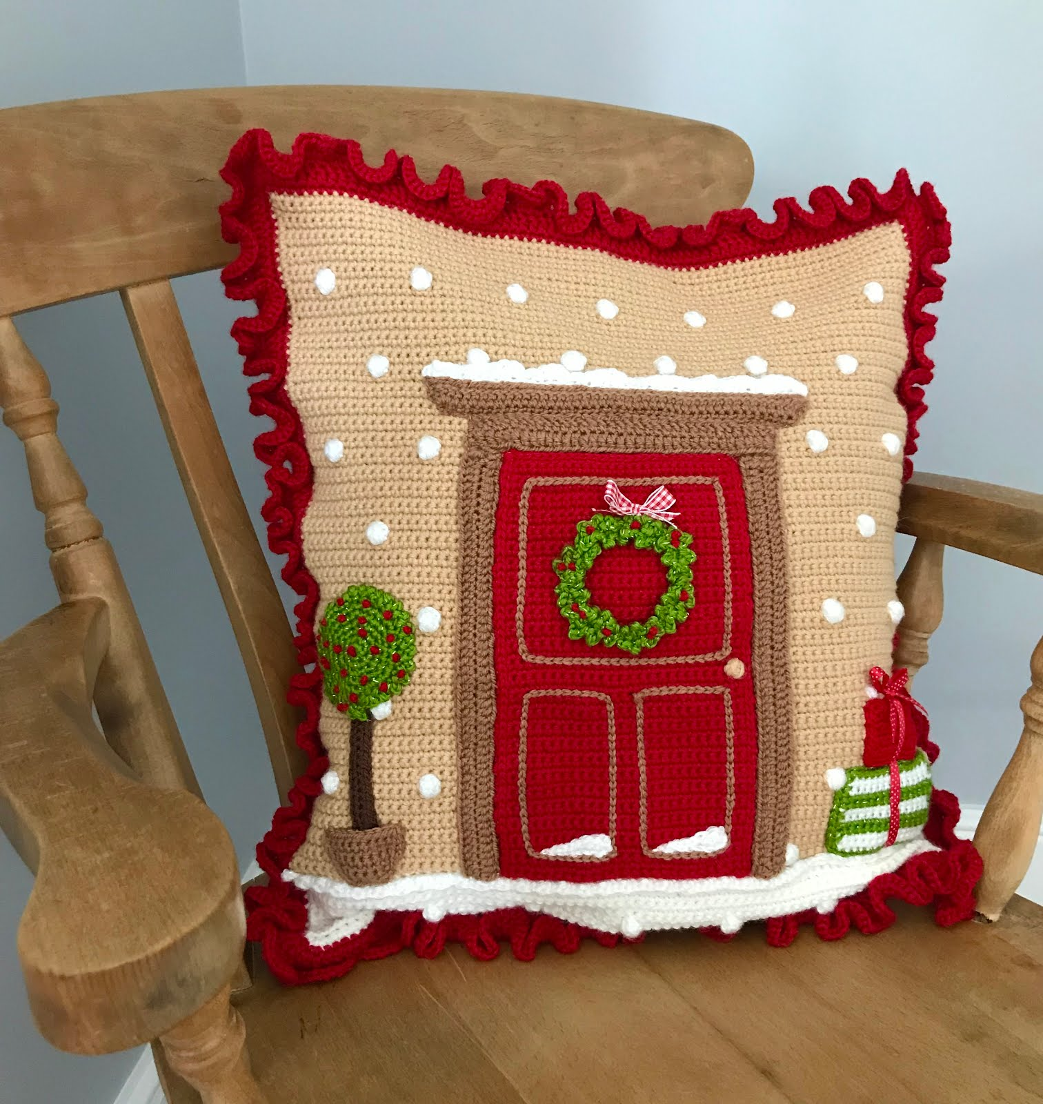 Christmas Front Door cushion