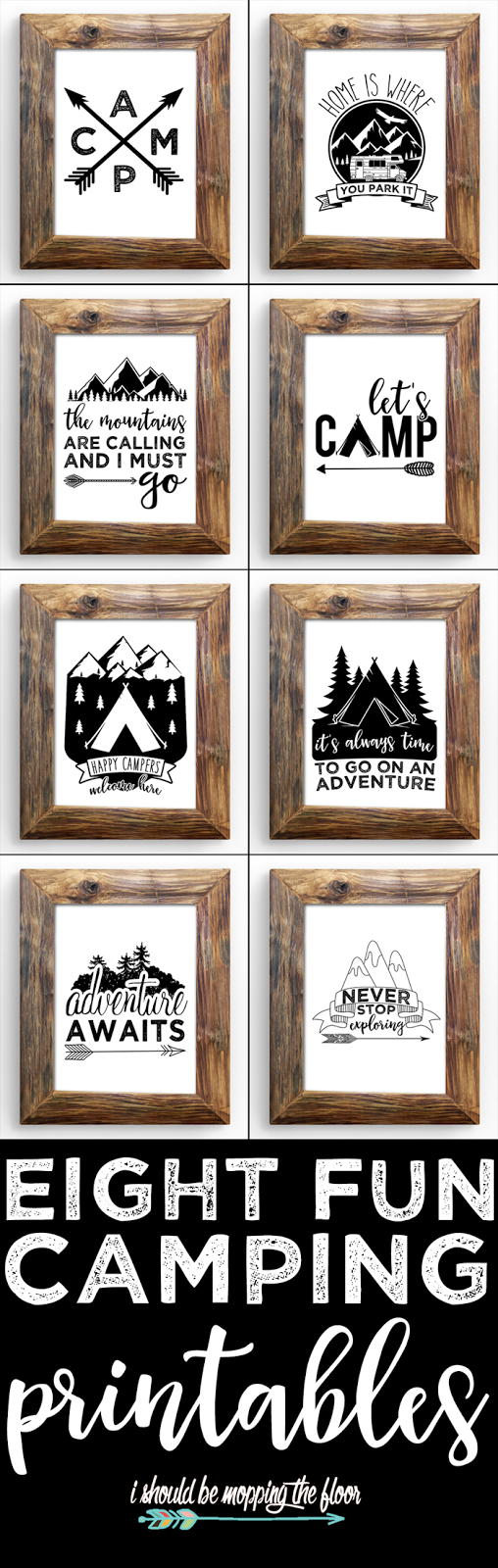 Camp Art Printables
