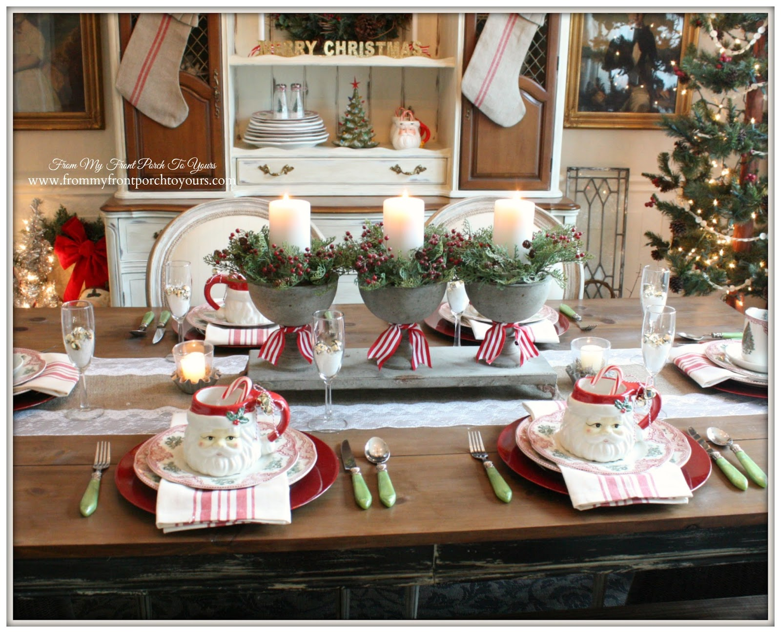 French Country Christmas Decorating Ideas: From My Front Porch To Yours: French Farmhouse Vintage