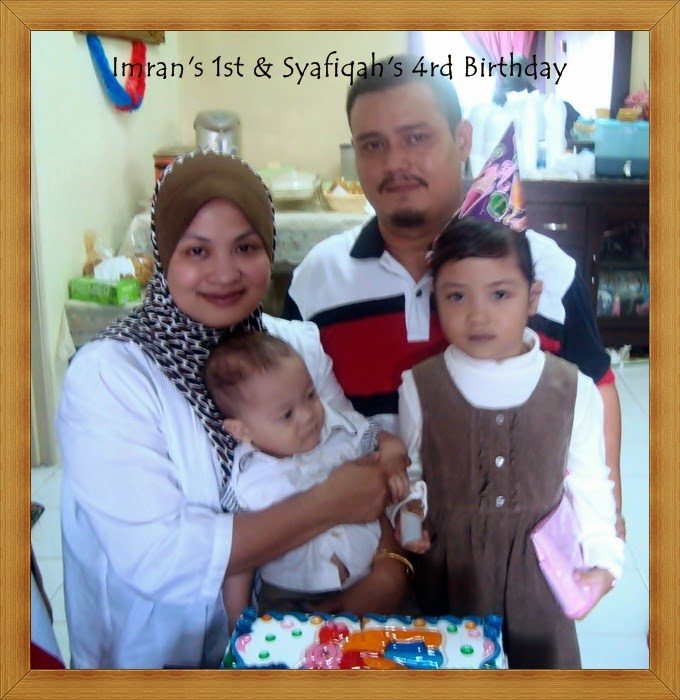 Irfan's 1st & Syafiqah's 4th Birthday