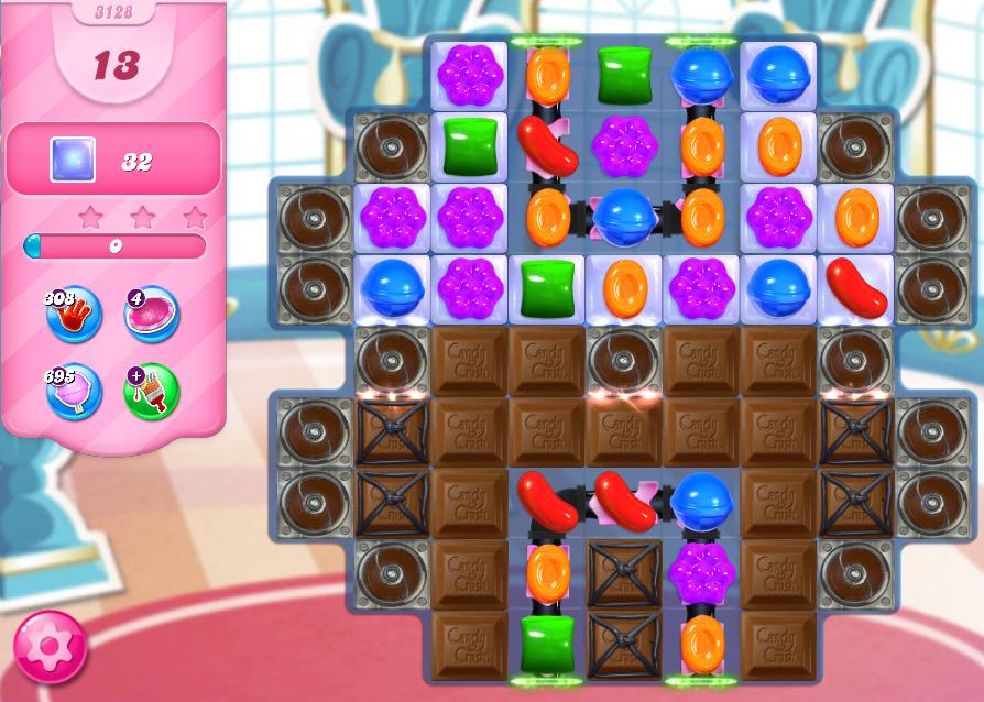 Candy Crush Saga level 3128