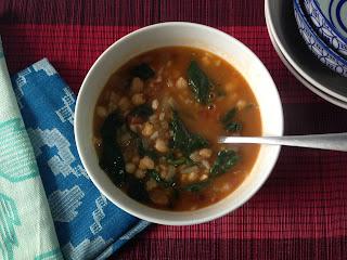 Presentación potaje de legumbres