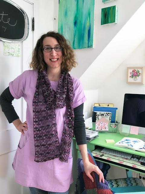 artist, artist studio, Anne Butera, My Giant Strawberry, me made, Portfolio Tunic, crochet, sewing
