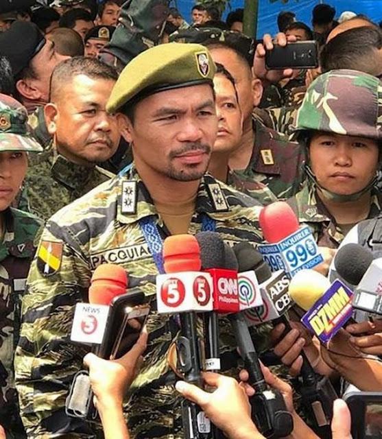 Manny Pacquiao promete unirse al ejército, contra ISIS