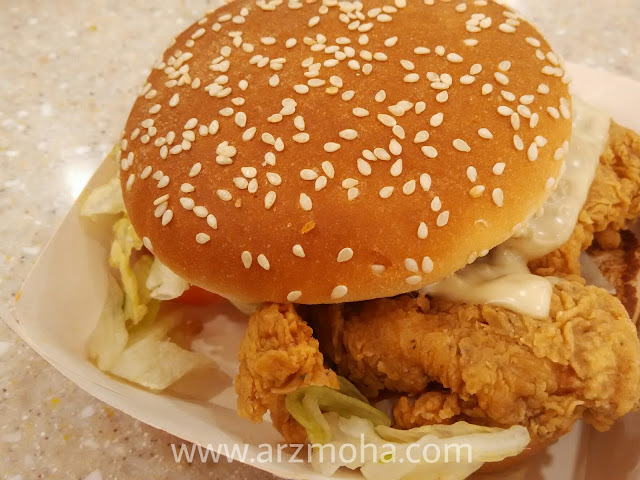 mexicana burger di texas chicken, texas chicken penang, tempat makan menarik di penang,