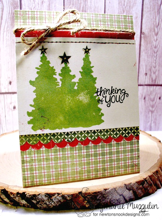 Christmas Favorites Week - Day 4  | Christmas card by Stephanie Muzzulin | Whispering Pines Stamp Set by Newton's Nook Designs #newtonsnook #christmascards