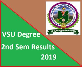 Manabadi VSU Degree 2nd Sem Results 2019
