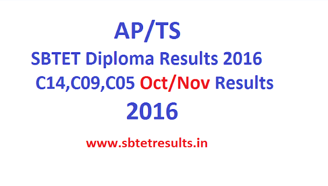 AP/TS SBTET Diploma Results 2016 C14,C09,C05 1st year,3rd,5th sem Oct/Nov Results 2016