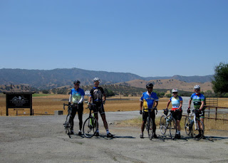 At the future site of a ghost bike for Jon Kaplan, Cienega Road and Airline Highway, Paicines, California