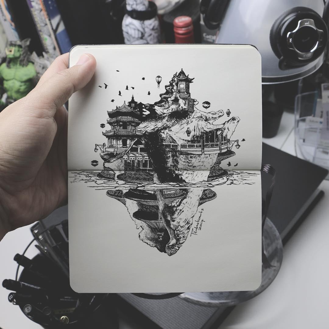 04-Seashell-Joseph-Catimbang-Doodle-Drawings-make-the-World-go-Round-www-designstack-co