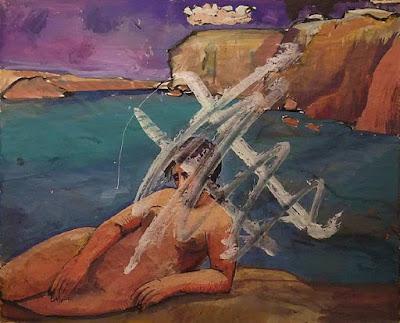 Nude Woman In A Coastal Landscape, Pauline Boty