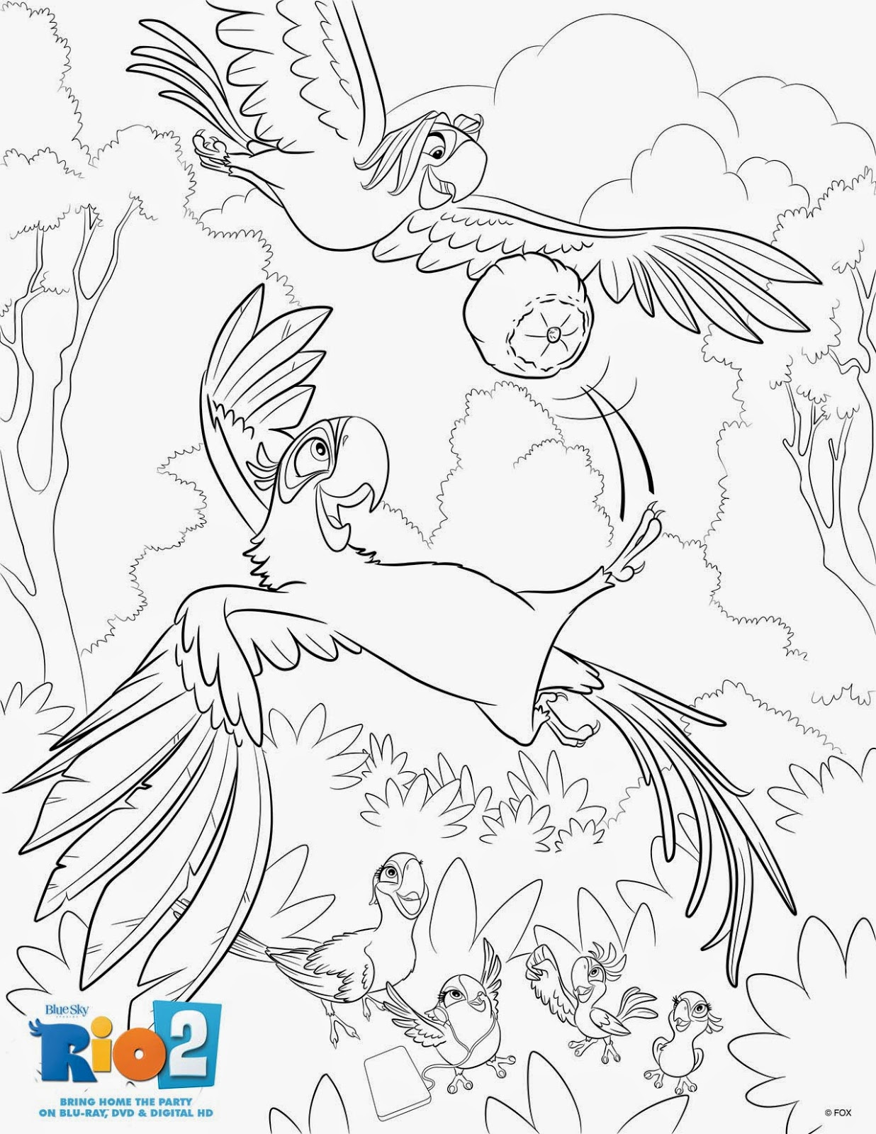 New Age Mama: Rio 2 Features, Coloring & Activity Sheets