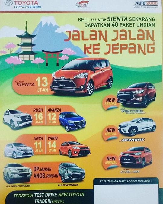 Promo Toyota Jalembar Jakarta