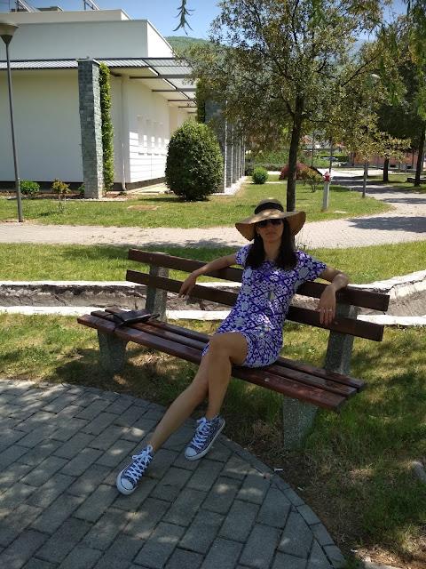 Bijelo Polje, Potoci, Bosnia and Herzegovina: Geometric pattern dress
