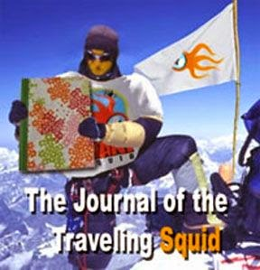 the journal of the traveling squid First Logo Graphic