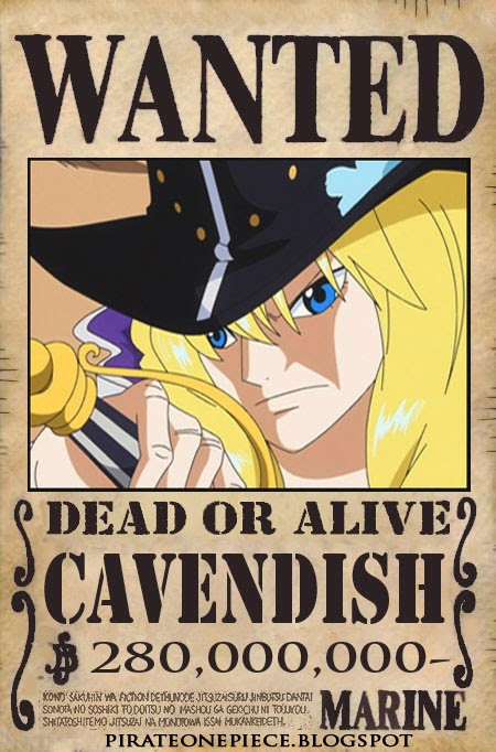 http://pirateonepiece.blogspot.com/2014/04/wanted-cavendish.html