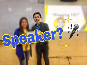 I'm their SPEAKER: Blogging Seminar Experience
