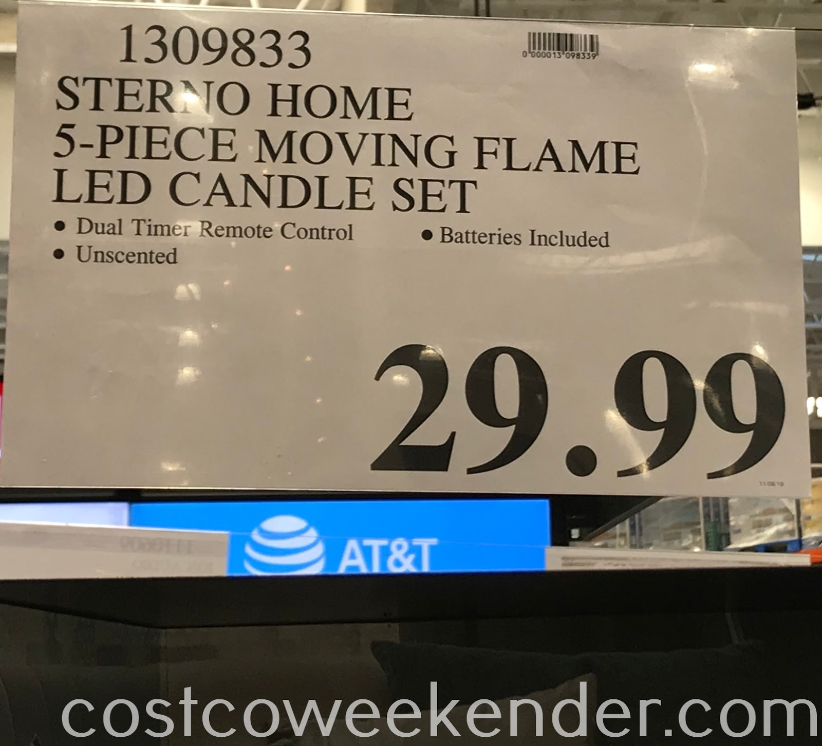 Deal for the Sterno Home 5-piece LED Wax Candles at Costco