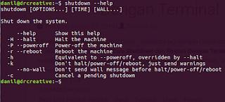 Cara Shutdown dari Terminal Linux