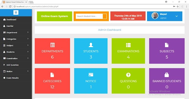 Smart Online Exam System (PHP)