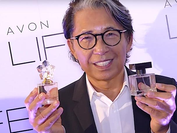 Kenzo Takada presenting his new collaboration with Avon Cometics and his exclusive Avon LIFE eau de parfum and eau de toilette