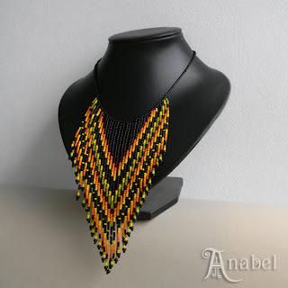 купить колье из бисера в этническом стиле  уникальные украшения из бисера
