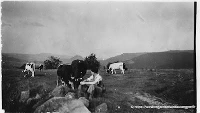 Photo noir et blanc : Auvergne, Besse vers 1930