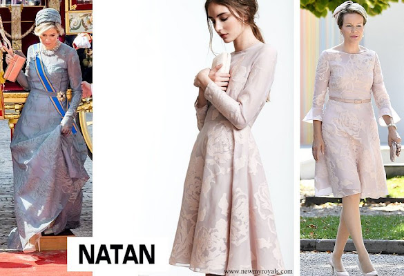 Queen Maxima and Queen Mathilde wore Natan dress