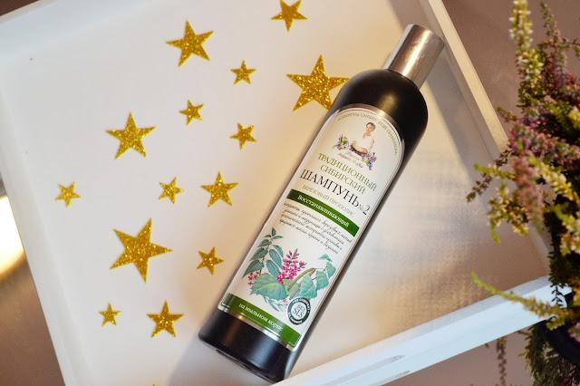 Receptury Agafii, szampon syberyjski nr 2 na brzozowym propolisie, regeneracyjny
