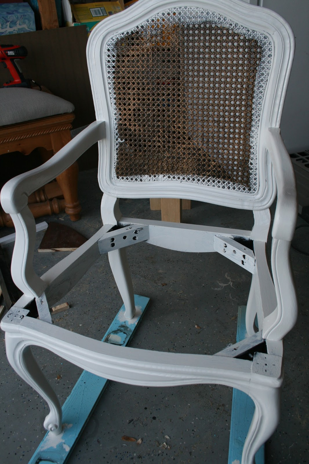 How To Replace Cane Back Chair With Fabric Rattan Wicker Rocking Cushion Upholster A Caned Tutorial Pneumatic Addict