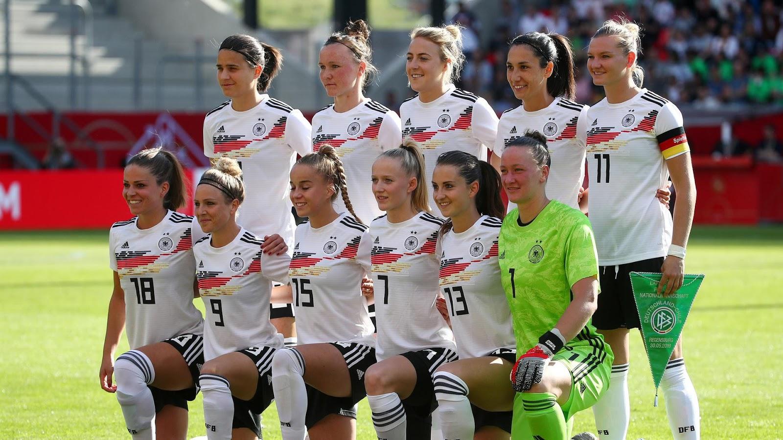 Formación de selección femenina de Alemania ante Chile, amistoso disputado el 30 de mayo de 2019