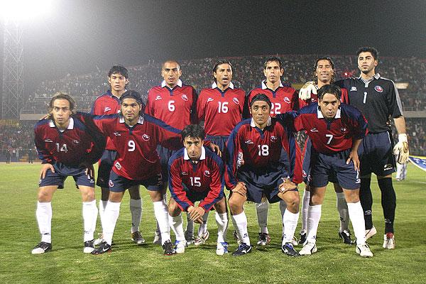 Formación de Chile ante Perú, amistoso disputado el 17 de agosto de 2005