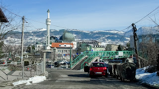 Sarajevo is built in a valley