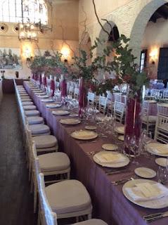 mesas largas para la celebración de bodas en Sevilla