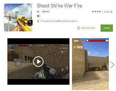 Shoot Strike War Fire یاریهكی زۆر بههیز بۆ ئهندرۆید