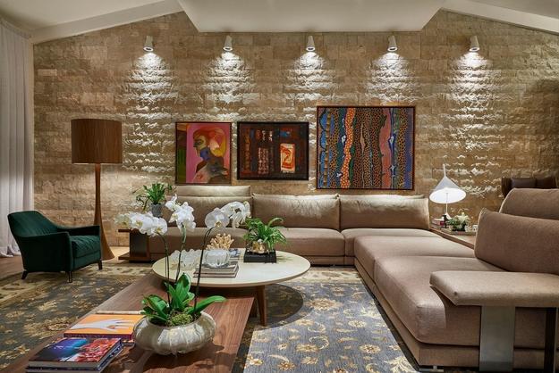 Construindo minha casa clean consultoria de decora o for Paredes decoradas com ceramicas rusticas