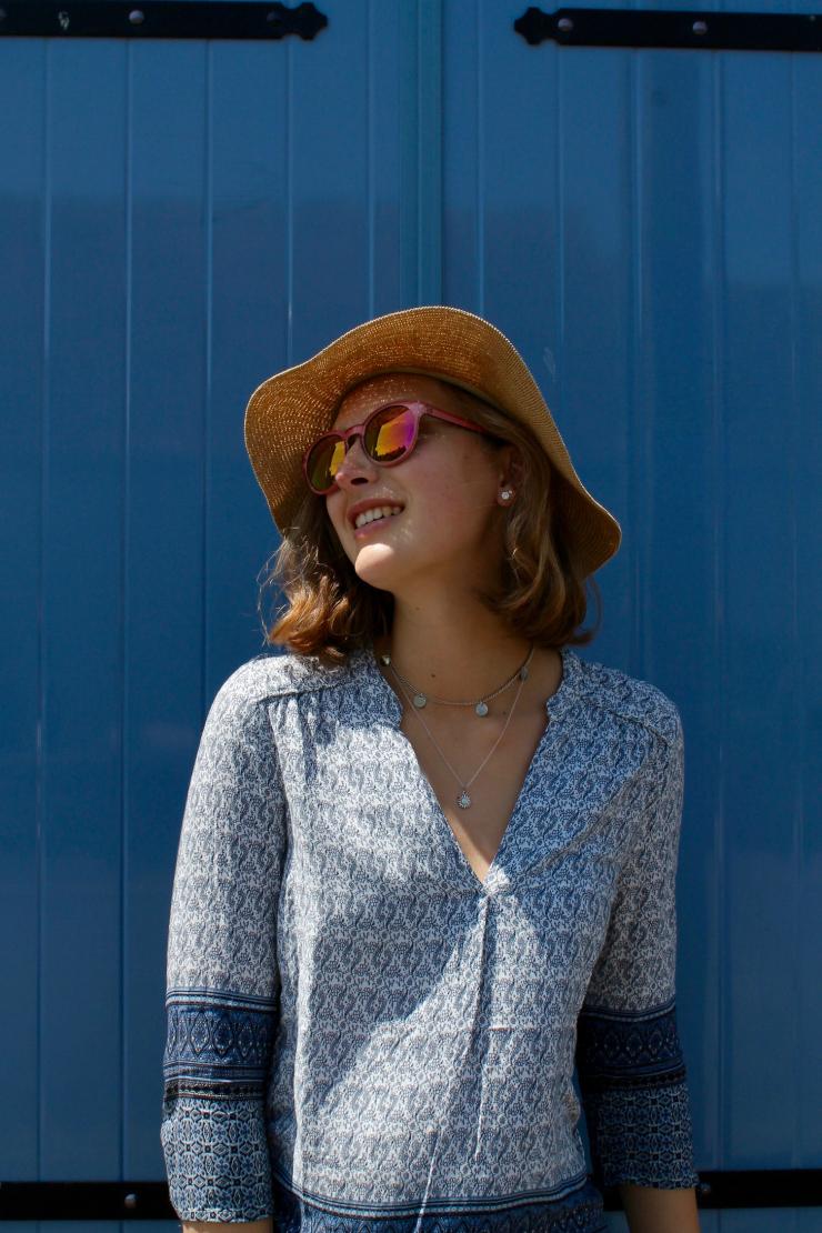 blue and white provençal shirt