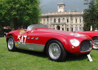 Ferrari's 340MM Spider, similar to the one in which Marzotto raced to his second Mille Miglia in 1953