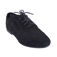 black suede lace up shoes
