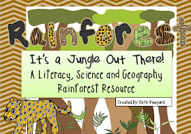 Rainforest Literacy, Science and Geography Resource