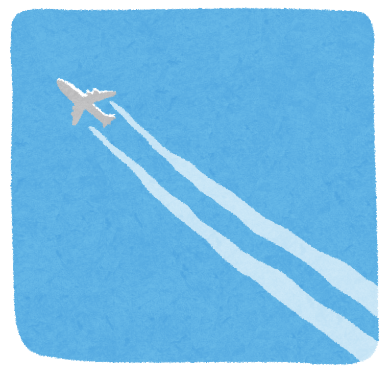 飛行機雲のイラスト かわいいフリー素材集 いらすとや