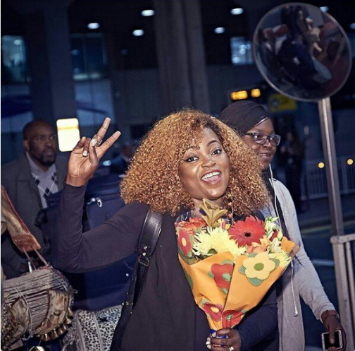 Image result for Funke Akindele Shows Off Her Dancing Skills At Heathrow Airport. (Photos)