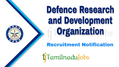 DRDO Recruitment notification 2019, central govt jobs, govt jobs for iti, govt jobs for 10th pass