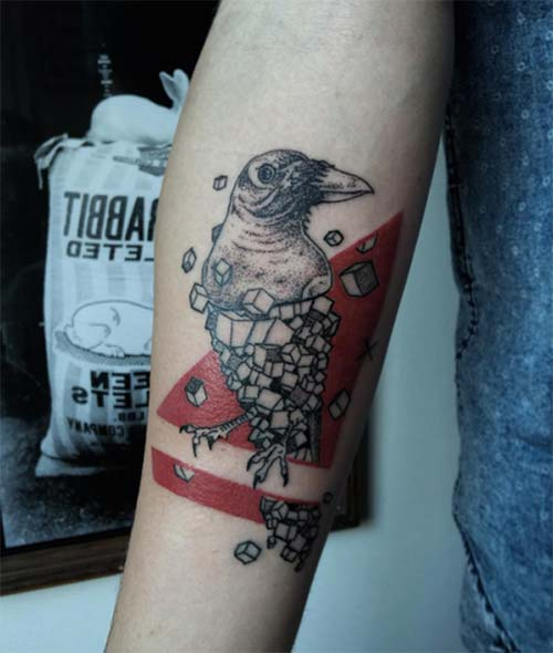 forearm bird tattoo art tumblr kuş dövme modelleri